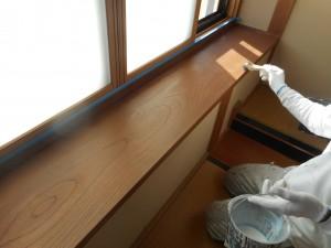 和室クリヤー塗装