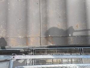 屋根U瓦洗い前