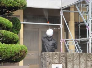 藤井邸水洗い