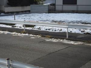 能登川の残雪