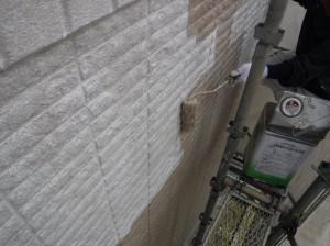 数田邸 外壁上塗り1回目