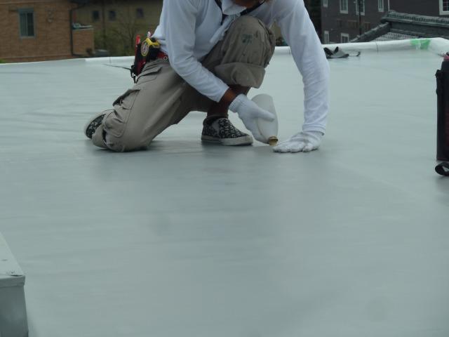 滋賀県東近江市Y様ビル|塩ビシート防水|外壁塗装&屋根工事 滋賀の片山 竣工写真