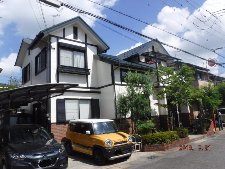 守山市Fさま邸 外壁サイディング・屋根カラーベストのラジカル4回塗り