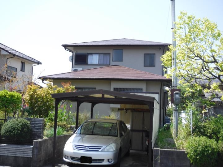 築約25年 屋根は断熱塗料での施工事例 | 湖南市Sさま邸