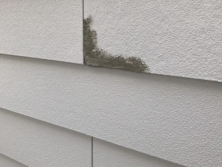 外壁 補修あと