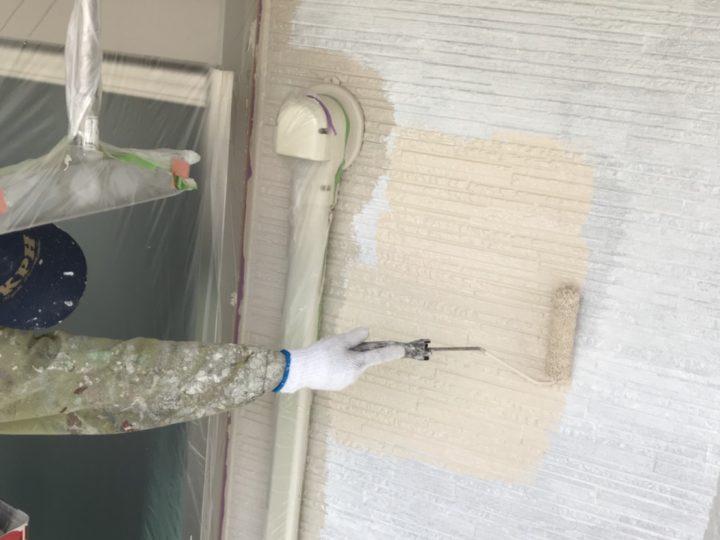 外壁 ローラー塗り