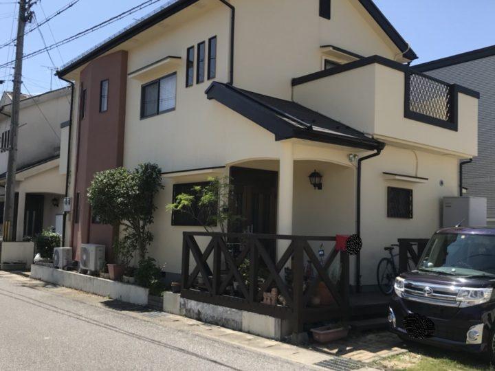 外壁4回塗り 宅建改修事例~モルタル壁にマスチック|滋賀県東近江市能登川M様邸