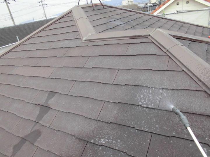 屋根 バイオ洗浄剤散布