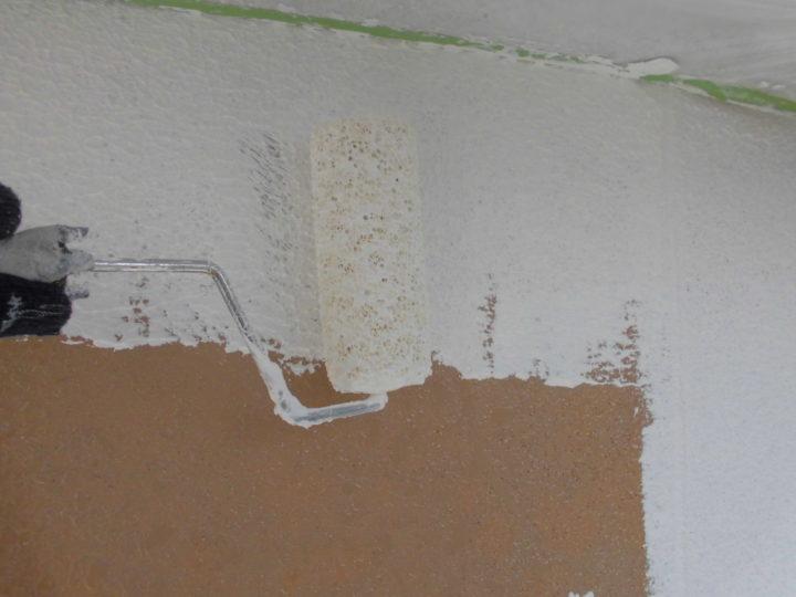 外壁 下塗り2回目(マスチック)