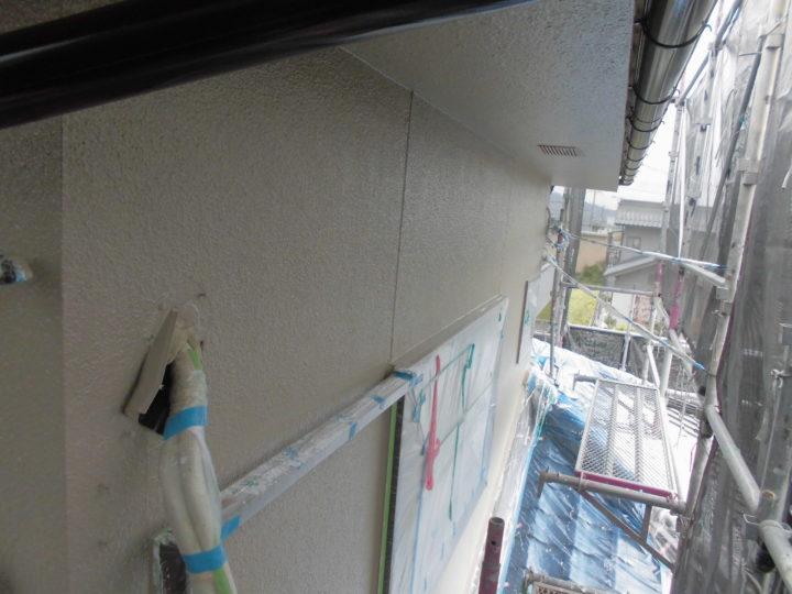 外壁 上塗り1回目完了後