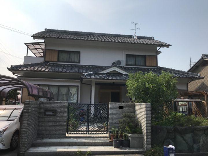 築約25年 4回塗り改修例~和風モルタル外壁 |滋賀県東近江市で外壁塗装 片山