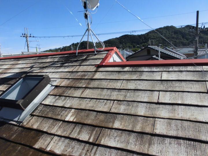屋根 下塗り後