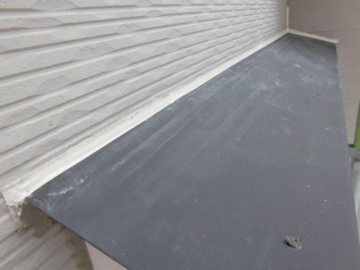 小庇の雨漏り補修