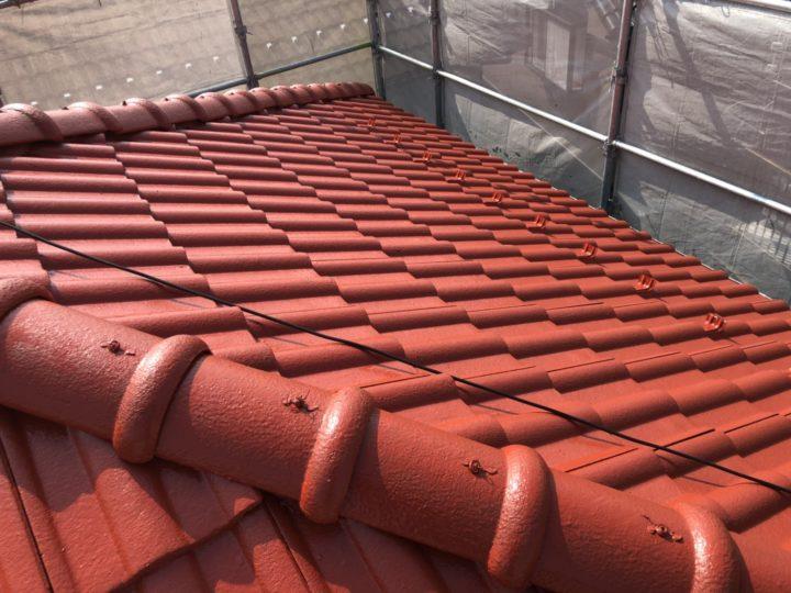 屋根 上塗り1回目完了