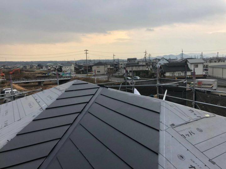 屋根カバー工法 平場