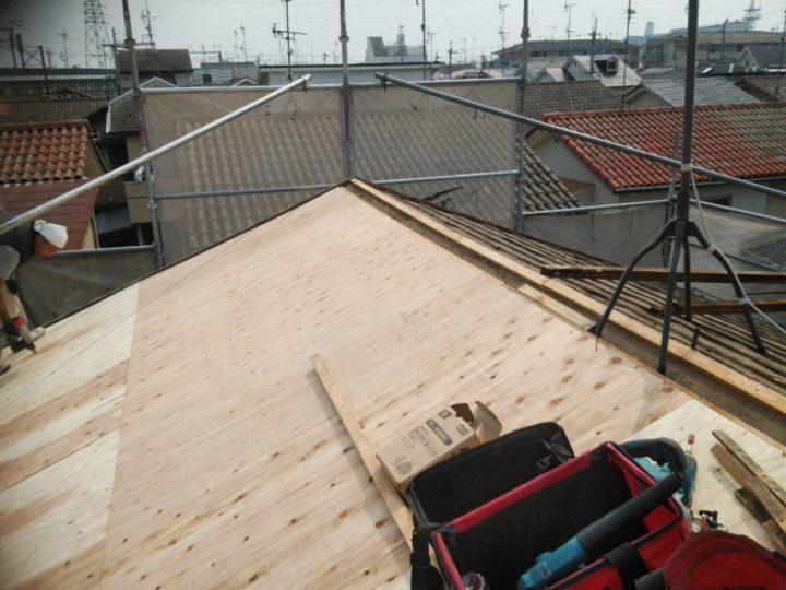 棟の桟木を新しくする
