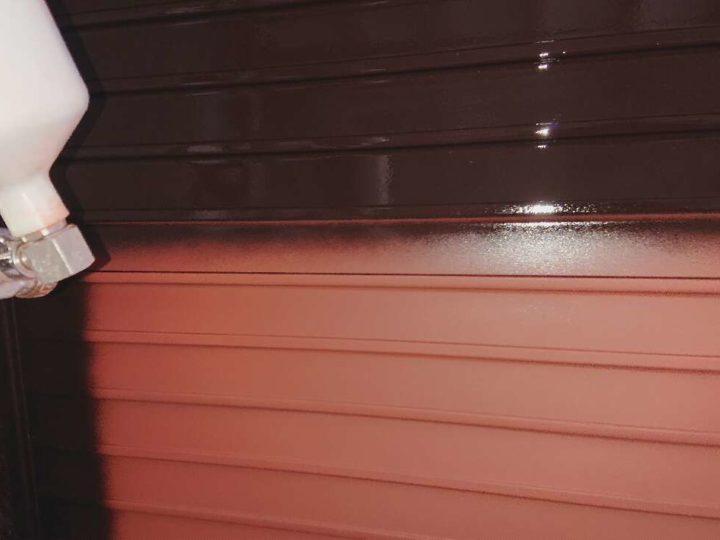 雨戸 上塗り1回目