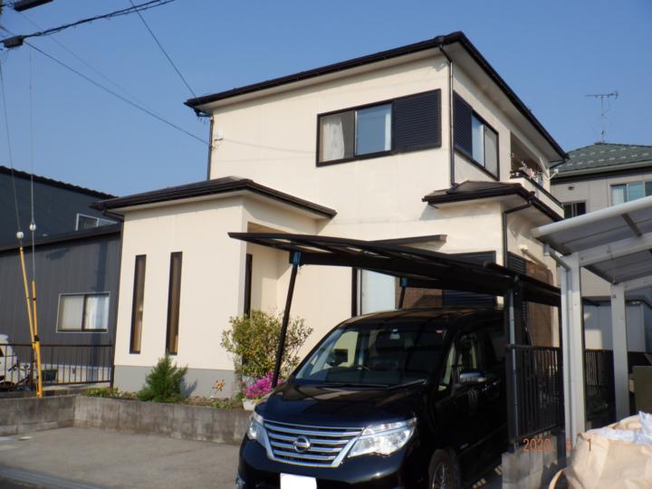 外壁塗装弾性フッ素4回塗り  |滋賀県東近江市 Kさま邸