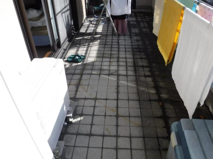 ベランダ床防水工事施工前