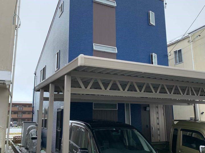 外壁塗装でおうちのイメージ一新! ブルーを基調にしました!!